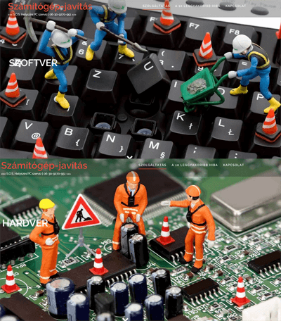 SZOLGÁLTATÁS - Számítógép-javítás | PC szerviz